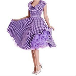 Purple gingham hell bunny swing dress